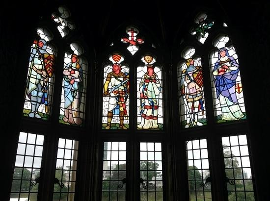 Cardiff Castle: romantic. this was the stainglass in the cadtle