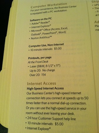 Kansas City Marriott Downtown: Ridiculous charges for internet