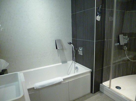 Novotel Suites Malaga Centro: El baño tenía apartado el inodoro y había bañera y cabina
