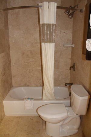 Shower Area W Curved Curtain Rod Picture Of La Quinta