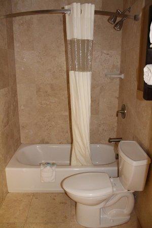 La Quinta Inn & Suites Seattle Downtown: Shower Area w/Curved Curtain Rod