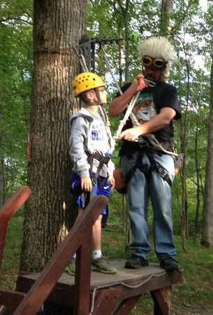 Rawhide Ranch Activities: Getting ready to zip