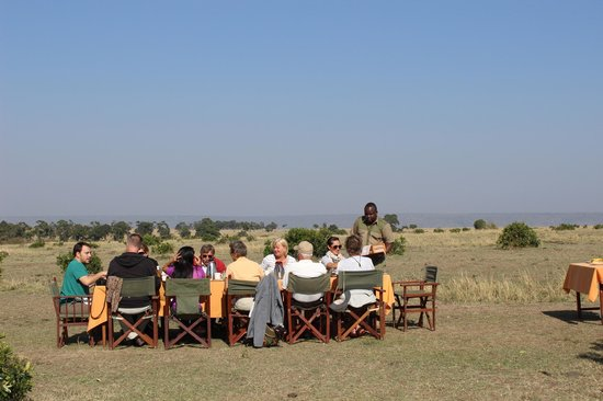 Elephant Pepper Camp: We were served with our choice of eggs and cooked breakfast out in the bush - amazing