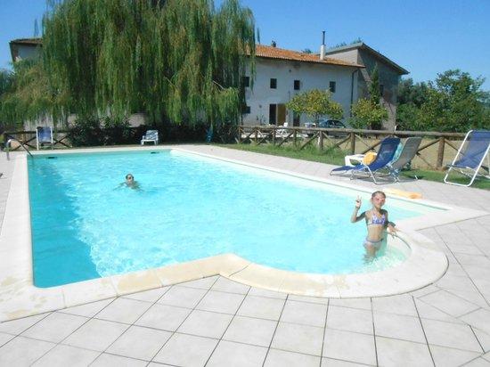 Agriturismo Le Baccane: La piscine et le gîte du Baccane