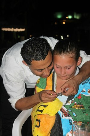 JAZ Tour Khalef Thalasso & Spa: Other daughter and the lovely waiter Hathem