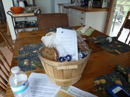 Grandview Mountain Cottages: Welcome Basket from the owners