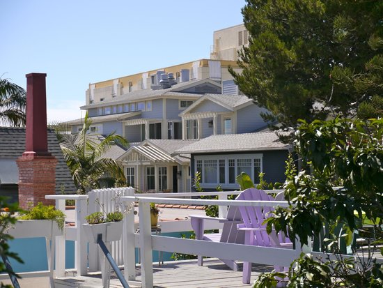 Seaview Hotel : The roof garden and Santa Monica roof tops