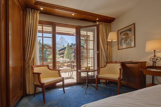 Hotel Eden Wellness: Standard Doppelzimmer mit Matterhornblick