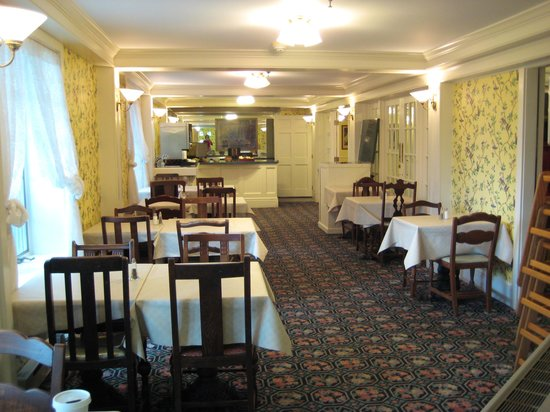 Inn on Mackinac : One of several rooms in which to eat/relax