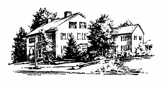 Marlboro, VT: A drawing from the 1950s of the inn.