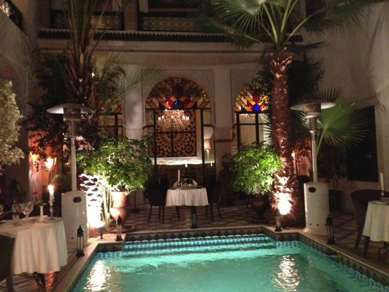 Restaurant Riad Monceau : The inner courtyard of the Riad Monceau