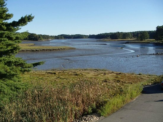 Robert's Maine Grill: The view from the upstairs, tide is out
