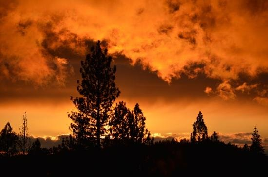 Evergreen Lodge at Yosemite: amazing sunset from 'sunset point'