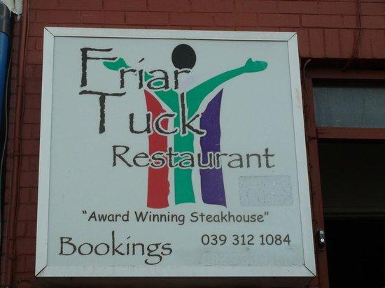 Friar Tuck Restaurant sign (Margate, KZN, South Africa