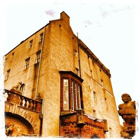 Delgatie Castle: main tower of castle