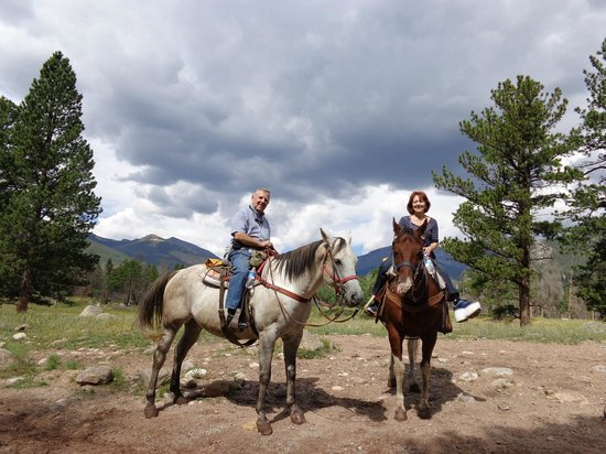 National Park Gateway Stables: two happy riders