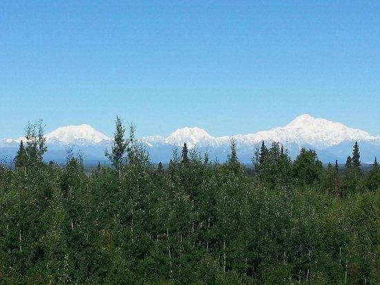 Talkeetna Alaskan Lodge: DEnali from Talkeetna Alaska Lodge
