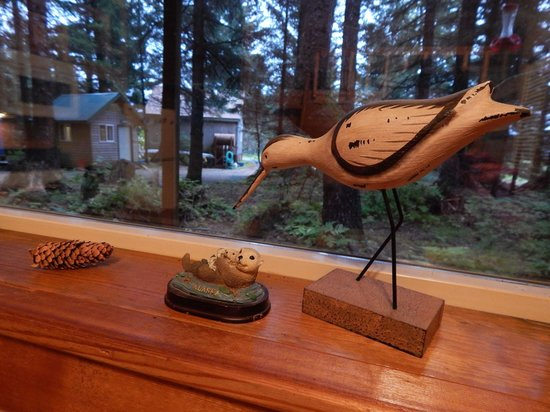 Beach House Rentals : Looking out from the cabin.