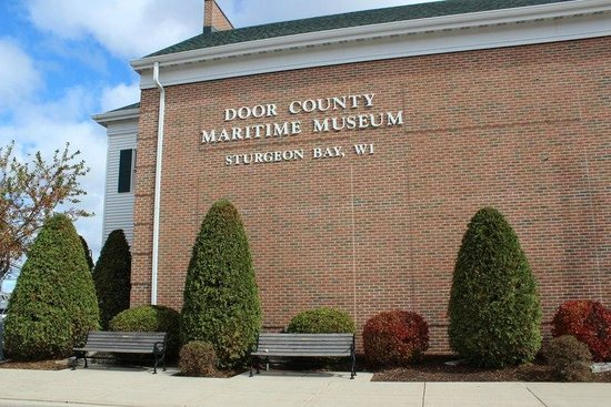 Door County Maritime Museum: The outside of the museum