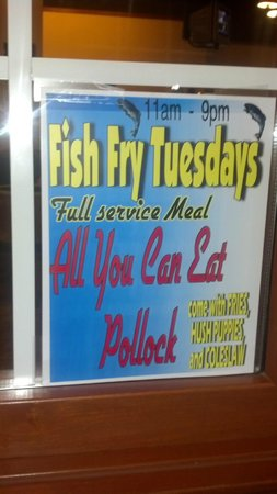 Ponderosa Steakhouse: Not sure how long this deal will last, but the fresh Pollock served at your table was GREAT!!