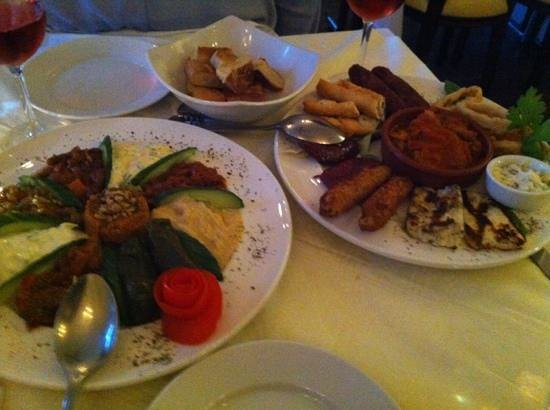 Konak Meze Turkish Restaurant : delicious cold & hot meze platters