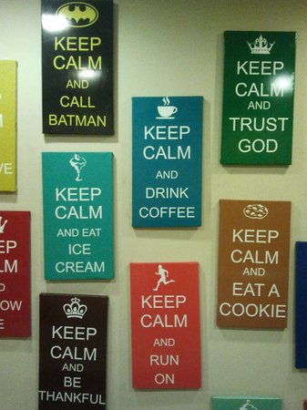 People's Restaurant: Keep Calm wall decorations