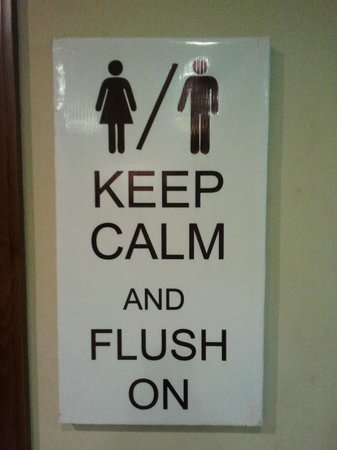 People's Restaurant : Keep Calm near the toilets