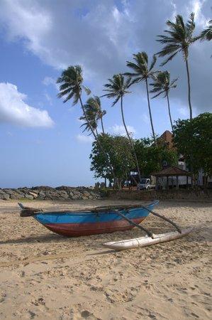 Dickwella Beach Hotel: una barca