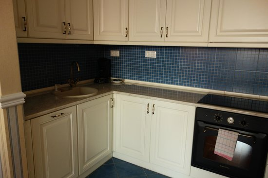 Queen's Court Hotel & Residence: Suite Kitchen Stove, Oven & Small Dishwasher