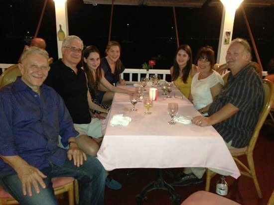 Il Nettuno: Family & friends enjoying a Xmas Holiday Dinner moment with owner Ramon