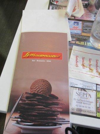 Brasserie Le Maupassant: menu