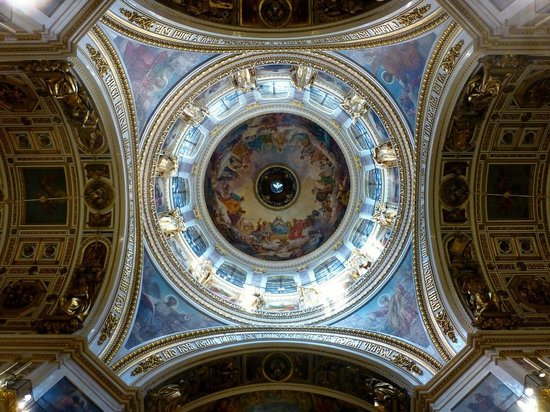 Alla Tours: Ceiling of St. Isaac's Chyurch