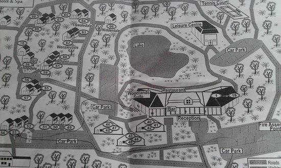 Chevin Country Park Hotel & Spa : Map of grounds