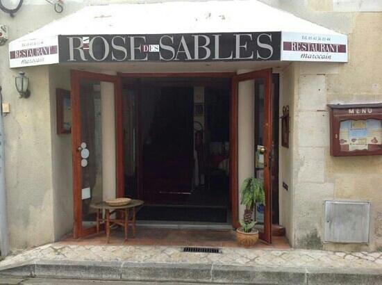 Rose des sables : entrée du restaurant