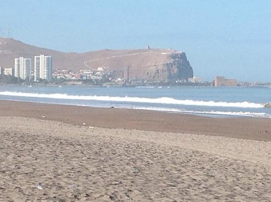 Diego de Almagro: View from the beach near the hotel.