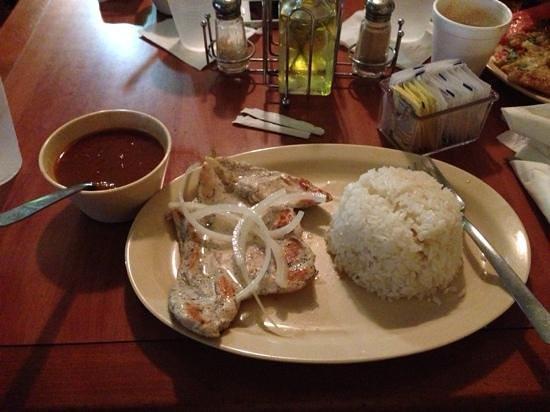 Don Jose Restaurant: grilled chicken breast, rice & beans
