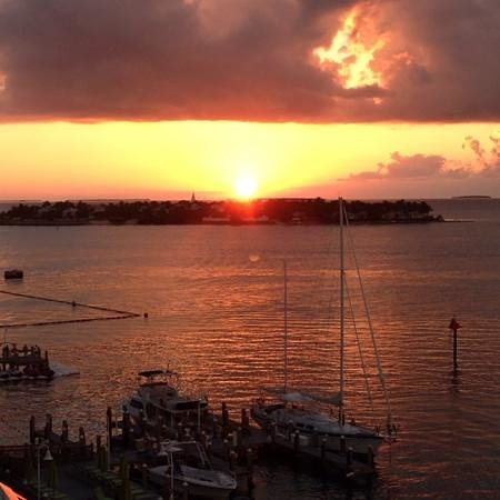 The Galleon Resort And Marina: sunset view from observation deck