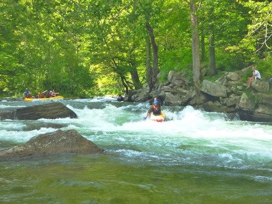 Nantahala Outdoor Center - Private Adventures : this is the only Class 3 rapid on the river
