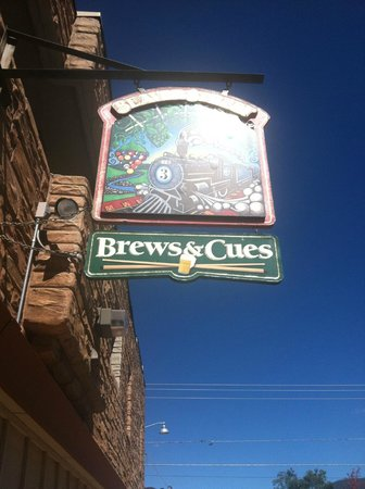 Beaver Street Brewery & Cues sign