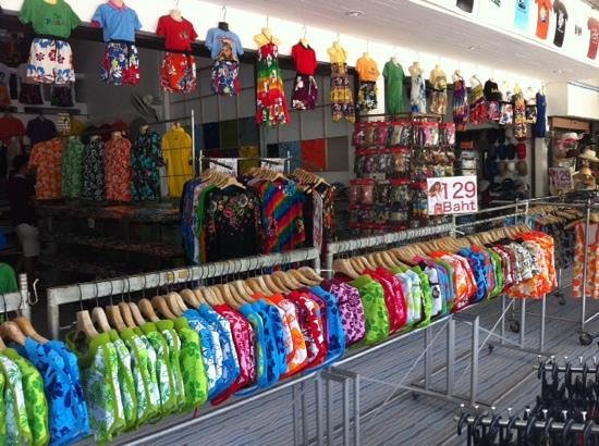 Super cheap t-shirts, clothes and souvenirs. - Picture of Phuket ...