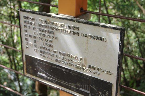 Hiji Waterfall: 吊り橋前です。