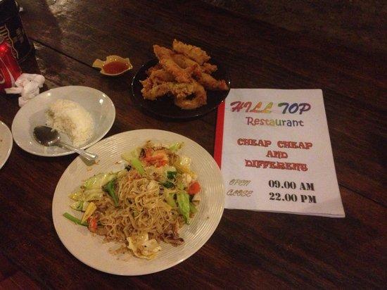 Hill Top Restaurant: dinner
