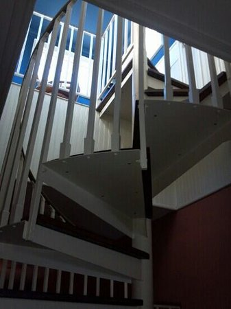 The Verandas: Yes, I dared to climb the spiral staircase.  This is one of the tallest homes around and it has