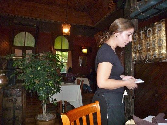 Windsor Station Restaurant & Barroom : Taking our order in the Dining Room at Windsor Station