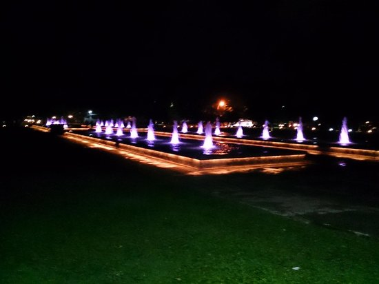 Lights in front of Old Parliament Building