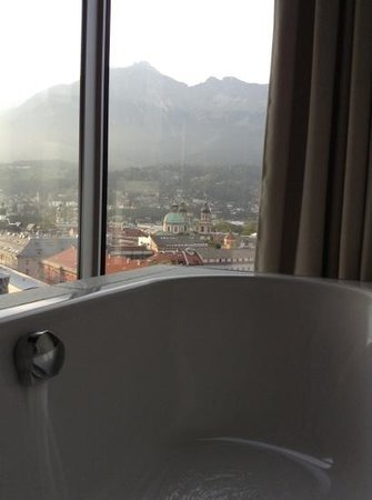 Adlers Hotel: view from bathroom