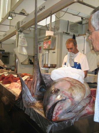 Cadiz, Kalifornie: marché aux poissons