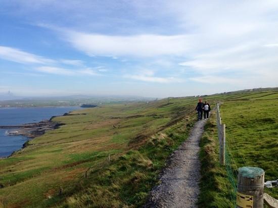 Doolin Cliff Walk: looking back toward Doolin
