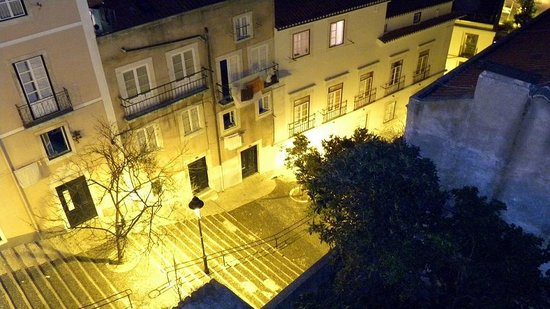 Lisbon Rooftops Guest House : View from the terrace - the stairs leading to the guesthouse