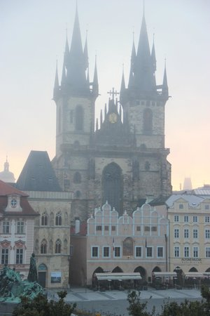 Old Town Square Apartments: Morning view on the old town square